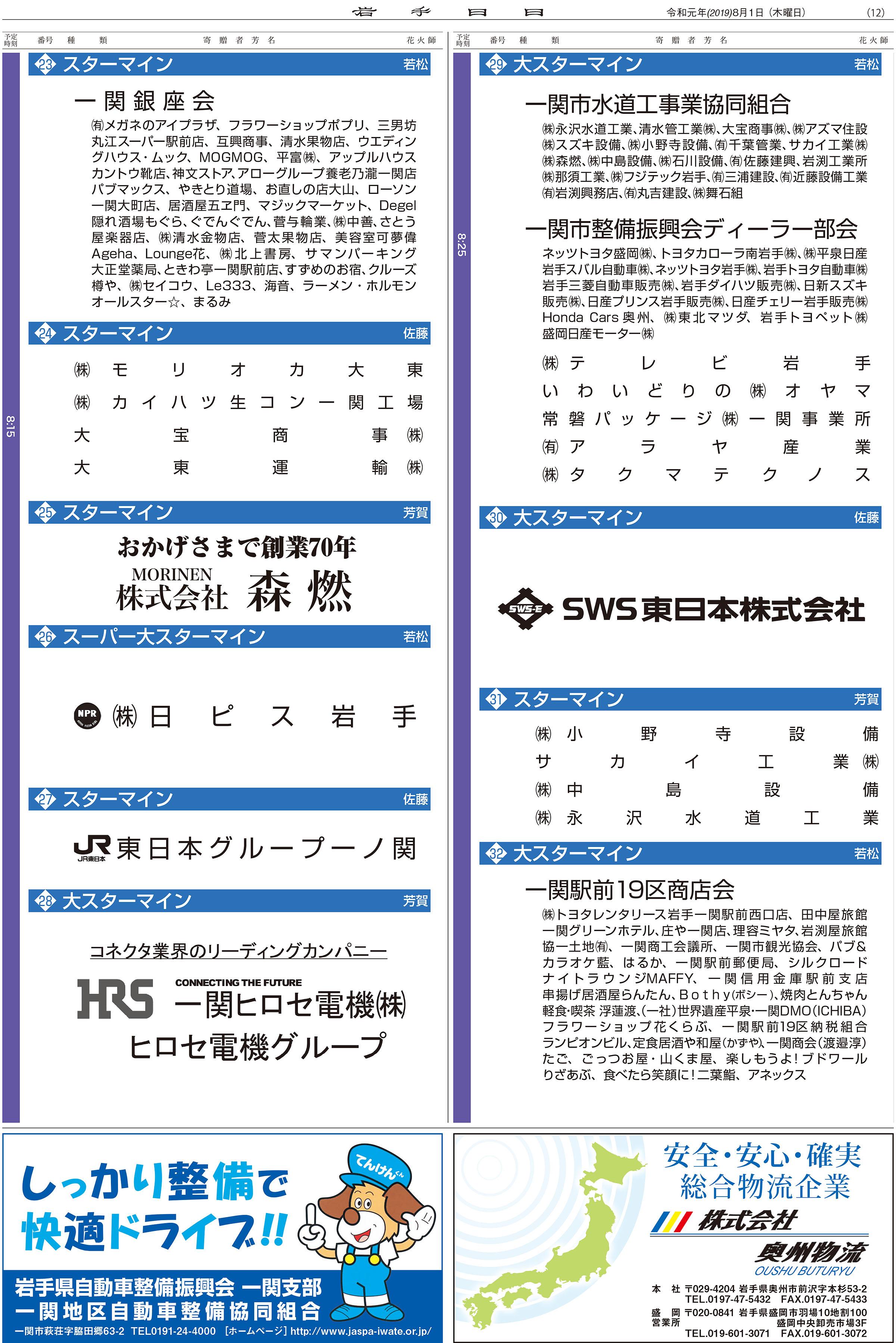 いちのせき夏まつり増刊号