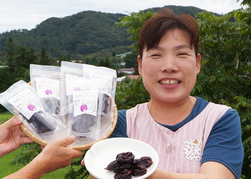 口内の味どうぞ 地元原料使用発酵プルーン あすから発売【北上】
