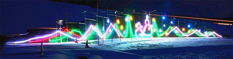 工事現場に光の装飾 東北道平泉スマートIC|Iwanichi Online 岩手日 ...