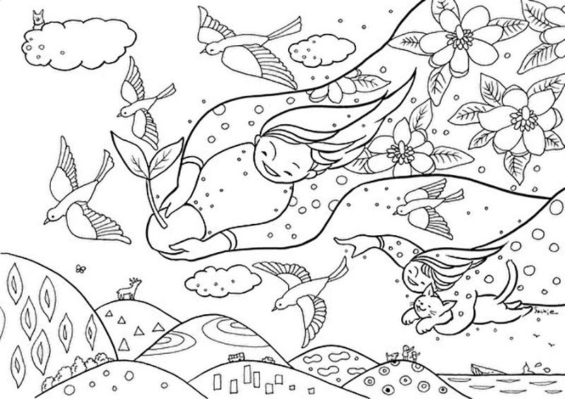 夢あふれる色載せて 東山 戸田さちえさん 塗り絵用イラスト公開 一関 Iwanichi Online 岩手日日新聞社
